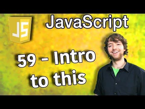 Javascript Programming Tutorial 59 - Intro to This thumbnail