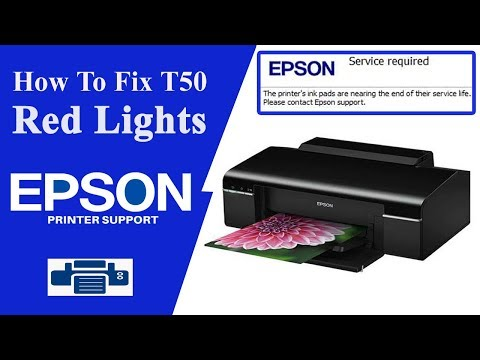 Epson T50 Resetter , T50 Service Required