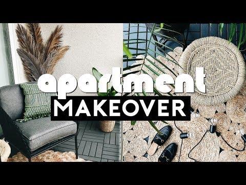 EXTREME APARTMENT MAKEOVER! Small Space Balcony Transformation! Budget & Rental Friendly | Nastazsa