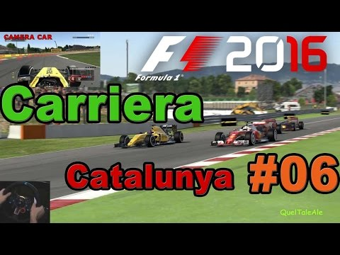 F1 2016 - PS4 Gameplay ITA - Logitech G29 - Carriera #06 - Gara Catalunya - Ruota a ruota