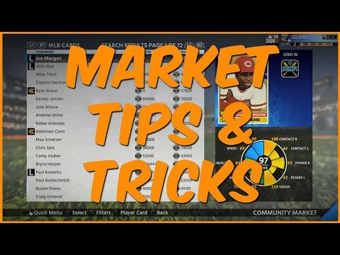 The Show 18 Diamond Dynasty | Market Tips & Tricks - How To Buy And Sell Cards In The Show 18