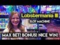 Beautiful Run on Lobstermania 3 Slot Machine! Big Wheel BONUS!
