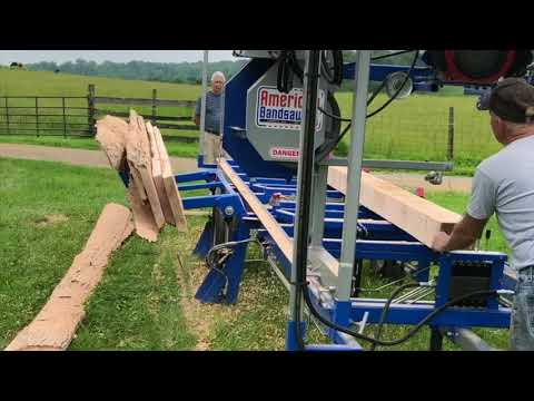 American Bandsaw Co - Portable Bandsaw Mill- hydraulic log loader
