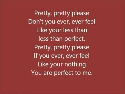 Glee - Perfect - Lyrics