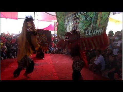 Reog vs Barongan - Ebeg Turonggo Nitis di Jalan Hansip, Kalikudi, Adipala, Cilacap