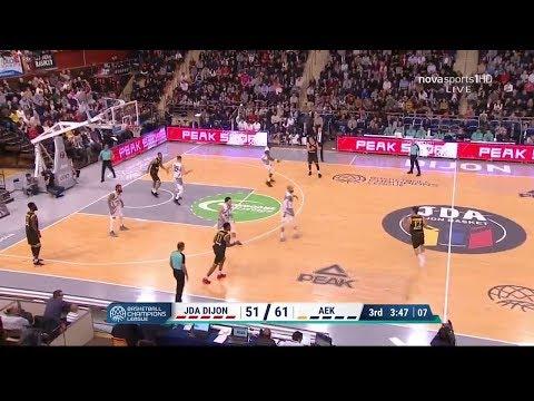 Ντιζόν-ΑΕΚ 80-90 Στιγμιότυπα HD 4η Άγ. 30-10-2018 / Dijon-AEK 80-90 Highlights