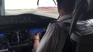 Virgin Atlantic 787-900 Cockpit Takeoff Heathrow