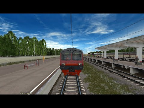 Trainz 12 - поездка от Железнодорожной до Москвы-Курской в электропоезде ЭД4М-0332