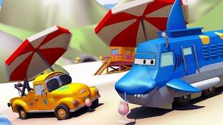 Autogaráž pro děti Z Troye je žralok - Tomova Autolakovna ve Městě Aut 🎨 Animáky pro děti