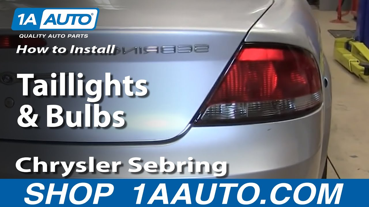 2004 Chrysler Sebring Headlight Wiring Diagram Telephone Socket Malaysia How To Install Replace Change Taillights And Bulbs 2001 06