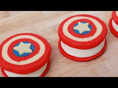 Download CAPTAIN AMERICA ICE CREAM SANDWICHES - NERDY NUMMIES Images