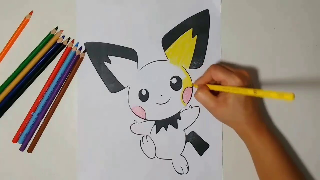Semana Pokemon Vamos Colorir O Pichu Pokemon Week Let S Color