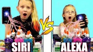 SIRI vs ALEXA Twin Telepathy SLIME Challenge!!!