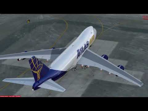 Lockheed Martin® Prepar3D® v4 PMDG B747-400F Max Take Off Weight Departure from Anchorage