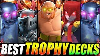*NEW* TOP 5 STRONGEST DECKS IN CLASH ROYALE!! FAST TROPHY DECKS!