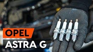 Montavimo Uždegimo žvakė OPEL ASTRA G Hatchback (F48_, F08_): nemokamas video