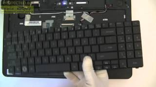 How to replace or remove keyboard on Acer Emachines E525, keyboard replacement