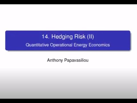LINMA2415 Lecture 11: Hedging Risk (Part II)