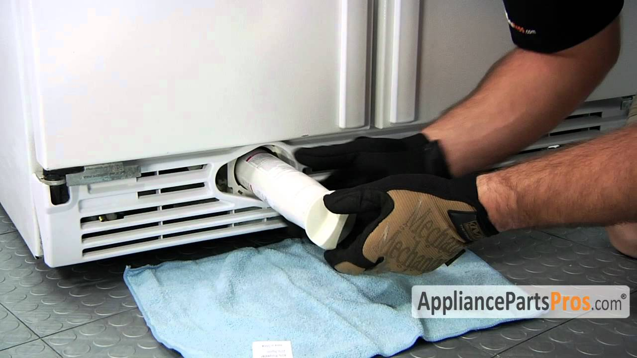 Refrigerator Water Filter InGrille How To Replace  YouTube