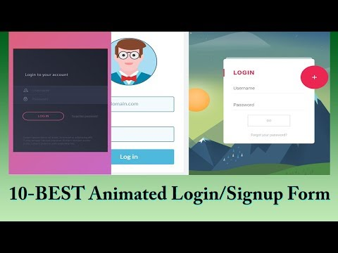 10 Best Animated Login And Signup Form With Source Code