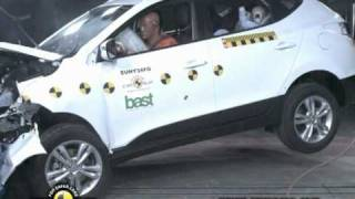 All new Hyundai IX35 2011 Euro NCAP Crash Test смотреть