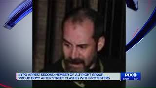 2nd Proud Boys member arrested in connection with street brawl at GOP club