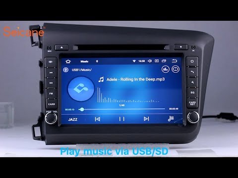 In Dash Radio 2012 Honda Civic DVD GPS Stereo Removal With Bluetooth Audio System