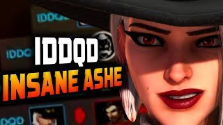 Insane ASHE - IDDQD DOMINATING Competitive! Pentuple kill! [ OVERWATCH SEASON 13 TOP 500 ]