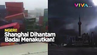Gelombang Bencana China Belum Usai! Shanghai Lumpuh oleh Badai Gelap Menakutkan