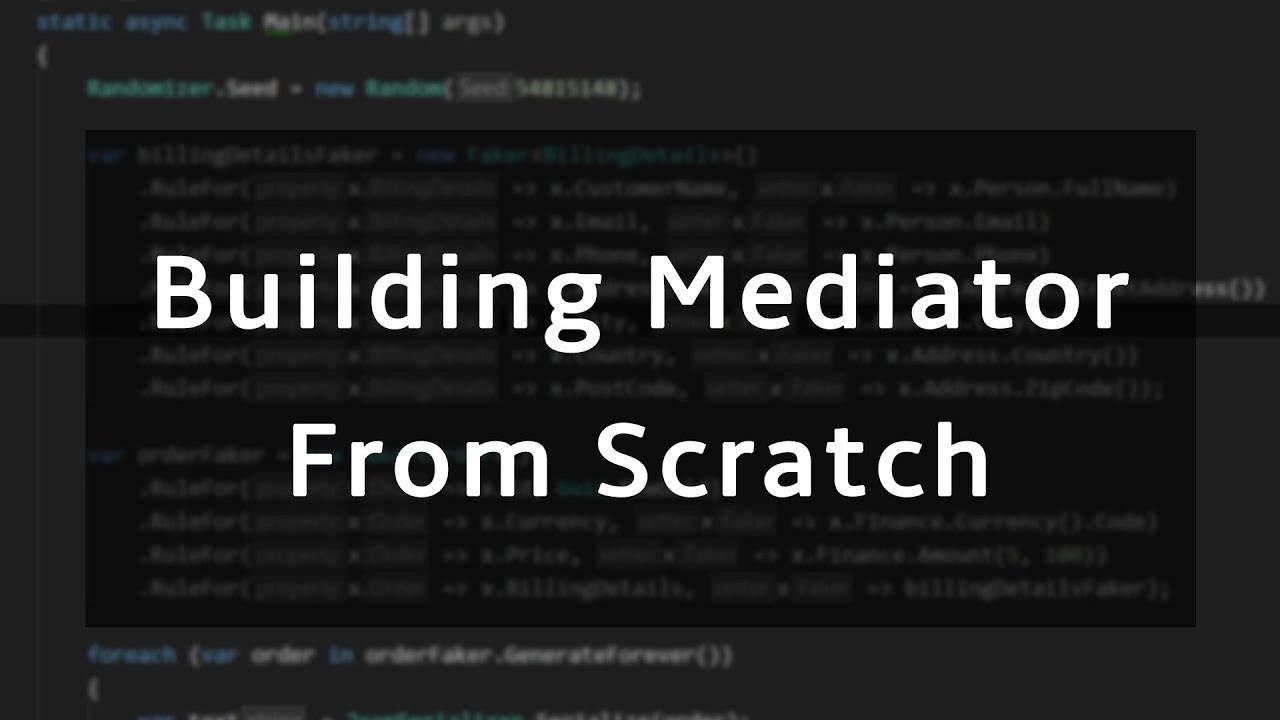Building a Mediator library in .NET from scratch