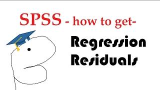 SPSS regression residuals - unstandardized, standardized, studentized