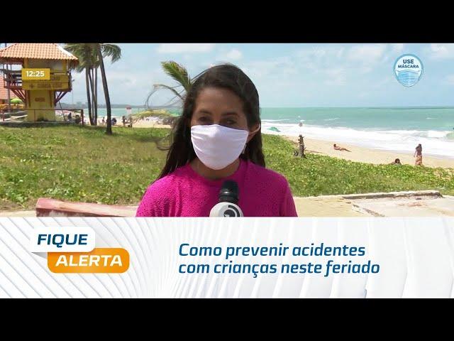 Corpo de Bombeiros orienta como prevenir acidentes com crianças neste feriado