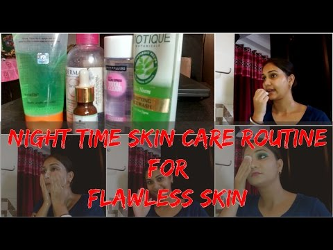 My Night Time Skin Care Routine   Indian Skin Care for Flawless younger looking skin   Nidhi Katiyar