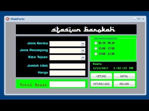 Tutorial Delphi Xe2 Fmsoft Unigui  Aplikasi Tiket Kereta Api