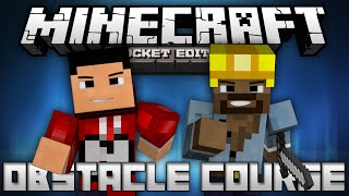 OBSTACLE COURSE w/ ImNikkoTV - A Multiplayer Mini Game - Minecraft Pocket Edition