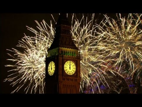 London Fireworks 2013 with Music and Sound Bites of 2012 Mix - New Year Live - BBC One