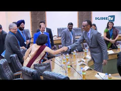 Perezida Kagame yakiriye Visi Perezida w'u Buhinde  Shri Hamid Ansari