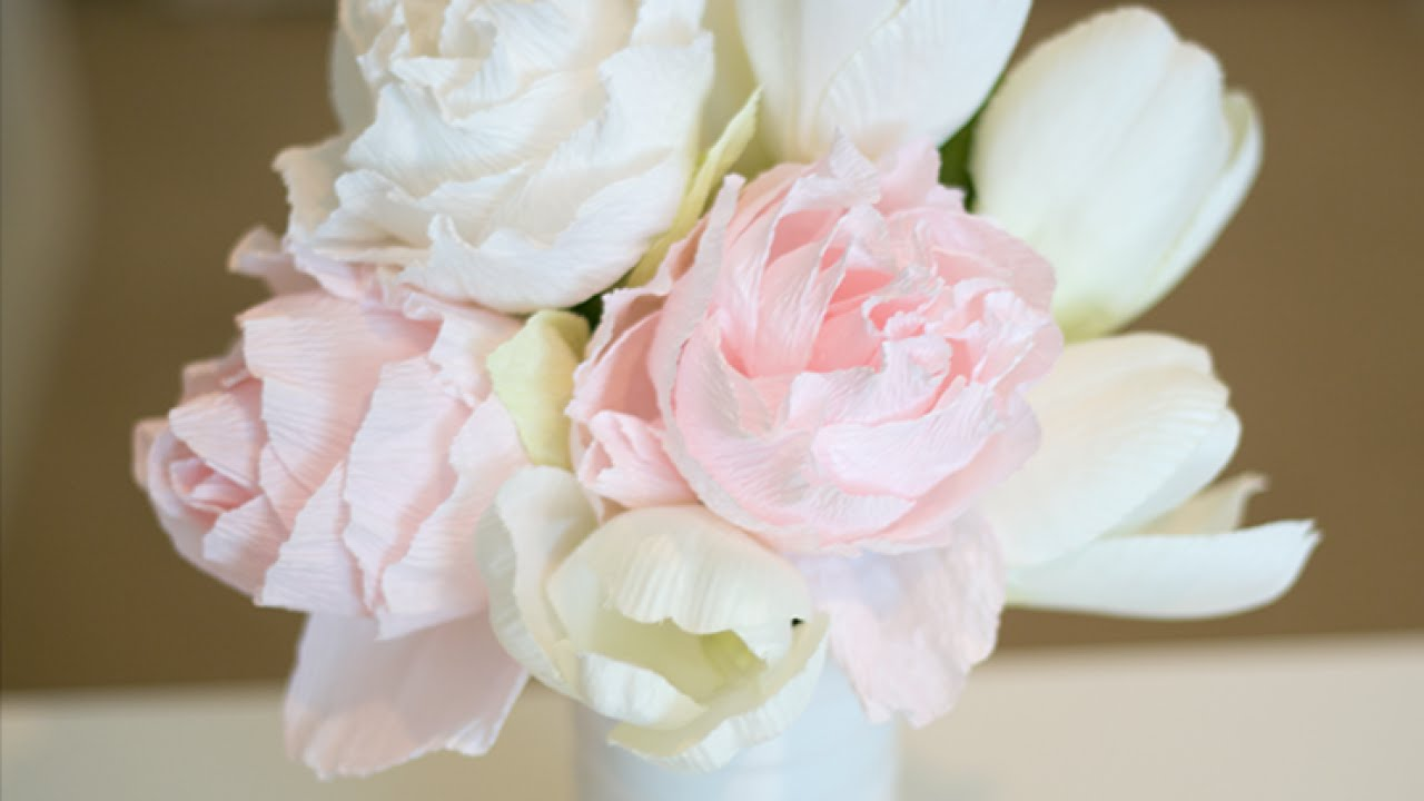 How To Crepe Paper Peony Diy Diy Tutorial Guidecentral