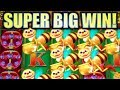 ★SUPER BIG WIN! HUGE WIN!!★ 🐝 LUCKY HONEYCOMB & HONEY BEAR 🐻 Slot Machine Bonus (KONAMI)