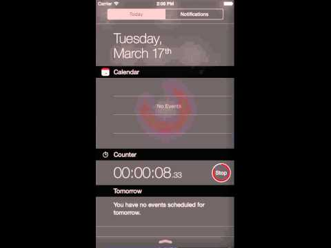 Counter - Stopwatch and Timer Widget for iOS (Widget Setup)