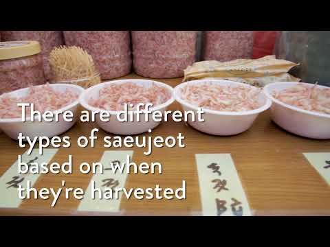 Saeujeot: Korea's delicious salted, fermented shrimp paste
