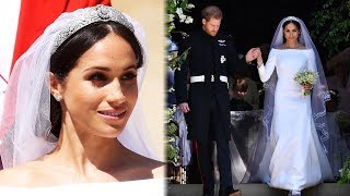 All The Details Behind Meghan Markle's STUNNING Wedding Gown