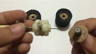 Homemade How to make hand RC Heavy Truck Axle from DC motor at home Amazing RC Axle