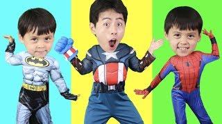 슈퍼히어로 스파이더맨 베트맨 얼굴 그림찾기!!wrong superheroes puzzle like BoramTube!- 마슈토이 Mashu ToysReview