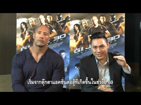 G.I.JOE RETALIATION 3 D THE ROCK & JON M CHU THAILAND EXCLUSIVE INTERVIEW
