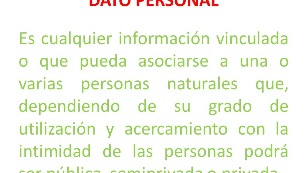 Ley 1581 de 2012 Protección de Datos Personales - YouTube