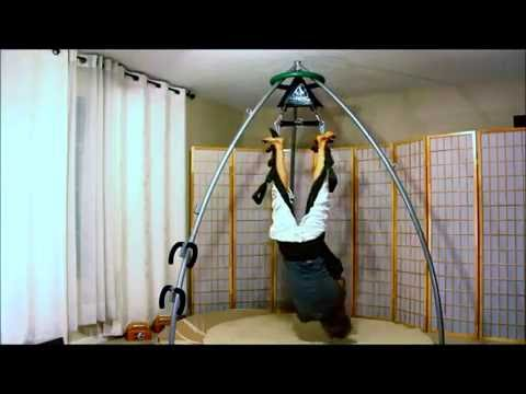 40 Cool Moves in Suspension Training on Yoga Swing for Back & Core Strength