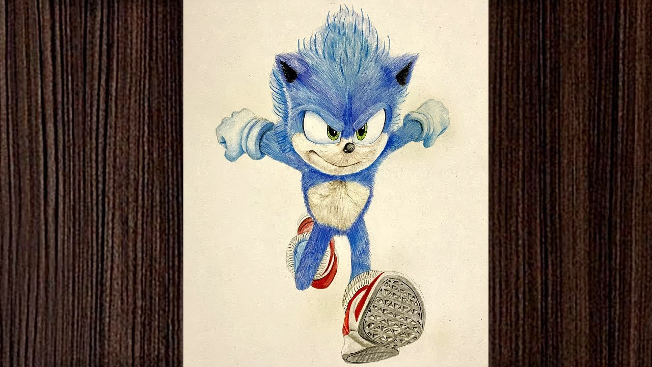 Drawing Sonic The Hedgehog Pencil Drawing For Kids Youtube