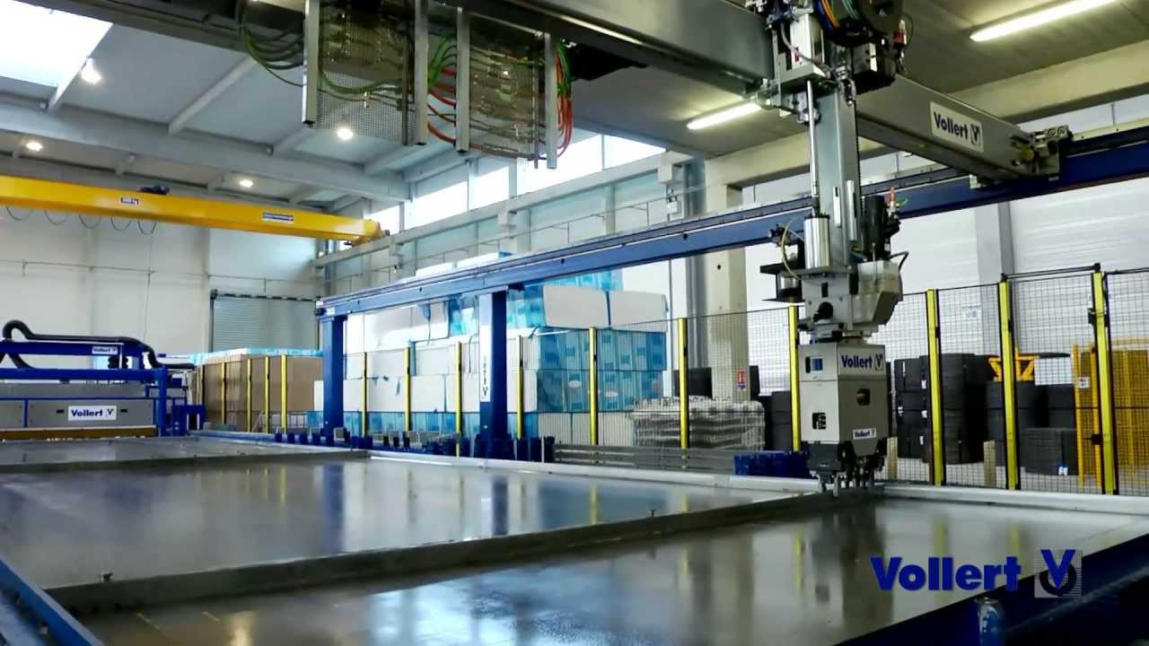 High Automated Production Of Double Walls And Floor Slabs