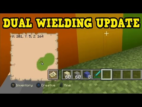 Minecraft Xbox 360 / PS3 - Dual Wielding Gameplay TU53